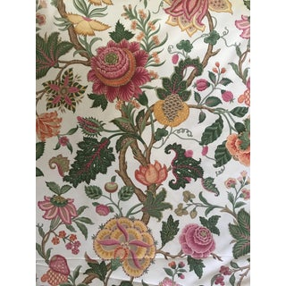 Traditional Brunschwig & Fils Nizam Cotton Chintz Print Fabric - 4 Yards For Sale