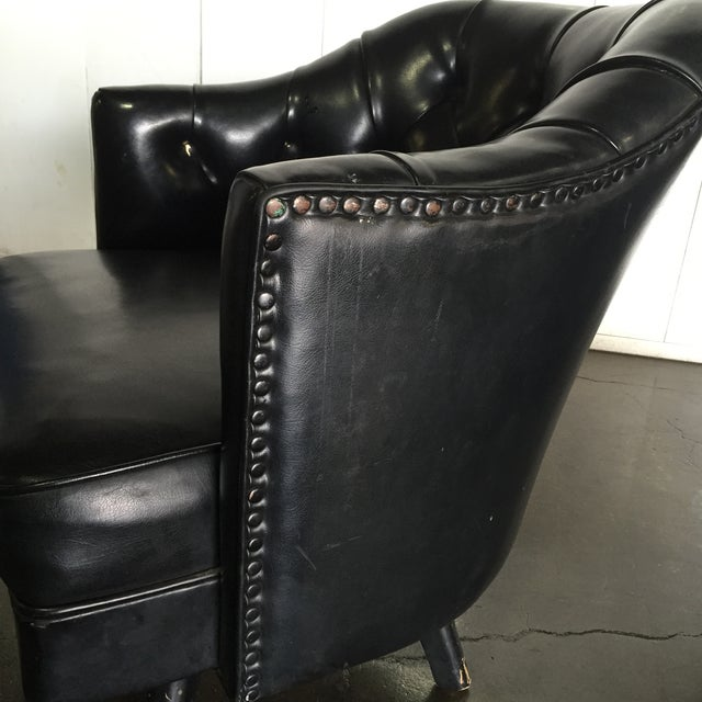 Monteverdi Style Mid-Century Tufted Chesterfield Swivel Chairs- A Pair - Image 3 of 7