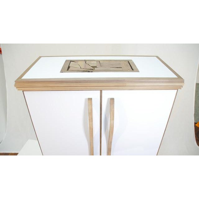 Contemporary Contemporary Mosaic Top Sculpted Handles Sideboard For Sale - Image 3 of 6