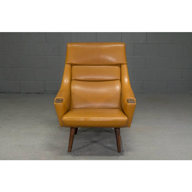 High Back Danish Modern Lounge Chair For Sale - Image 10 of 10