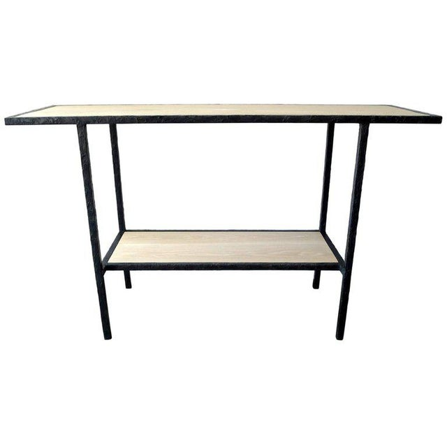 Black 20th Century Contemporary Bleached Oak Wood Console For Sale - Image 8 of 8