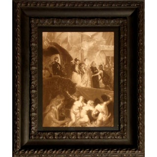"""Antique """"Landing of Marie De Medici at Marseilles"""" Photogravure Engraving With Custom Frame For Sale"""