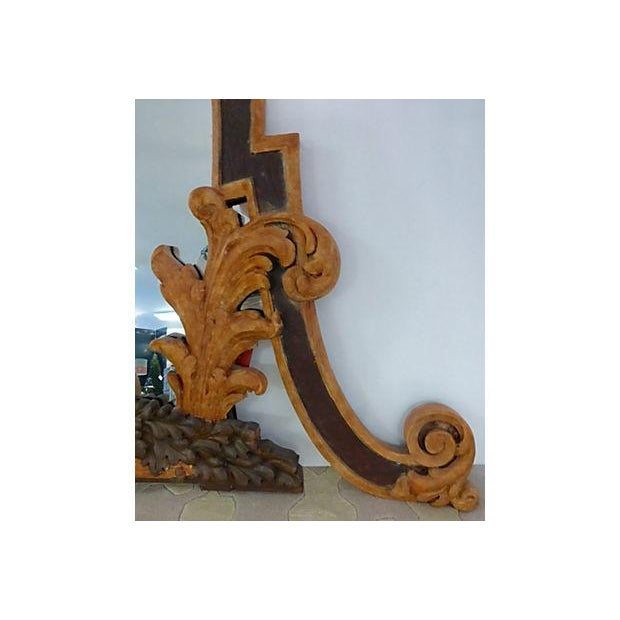 Hand Carved Italian 18th Century Mirrors - Pair For Sale - Image 4 of 9