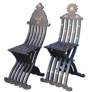 Near Syrian Scribe Chairs - a Pair For Sale
