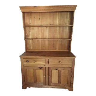 1980s English Tradition Pine Hutch For Sale
