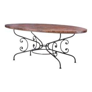 Arhaus Large Copper and Metal Dining Table For Sale