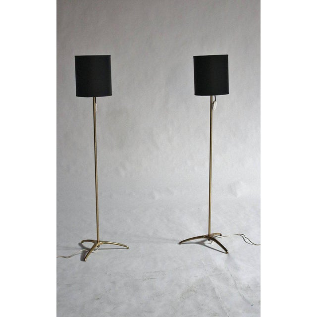 Brass Svend Aage Holm-Sorenson Brass Floor Lamps For Sale - Image 7 of 7