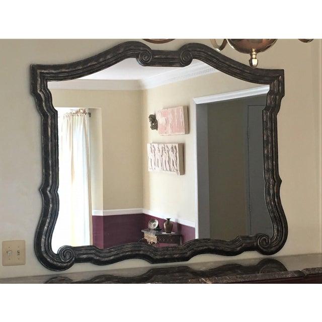Metal Bernhardt Avignon Large Landscape Mirror For Sale - Image 7 of 11