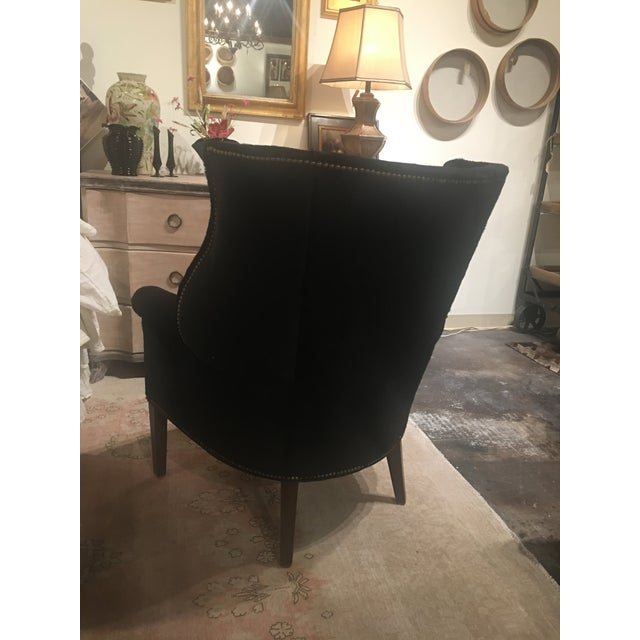 Serengeti Black Leather Hyde Chair For Sale - Image 9 of 11