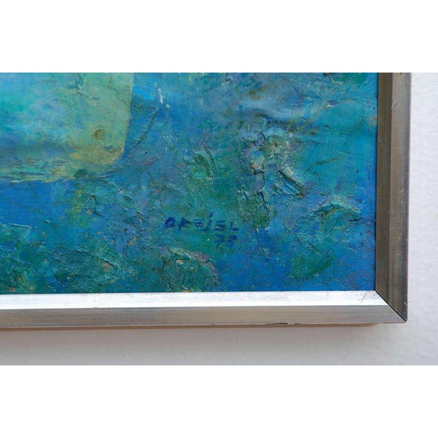 Abstract Latin American Abstract Surrealist Original Painting For Sale - Image 3 of 6