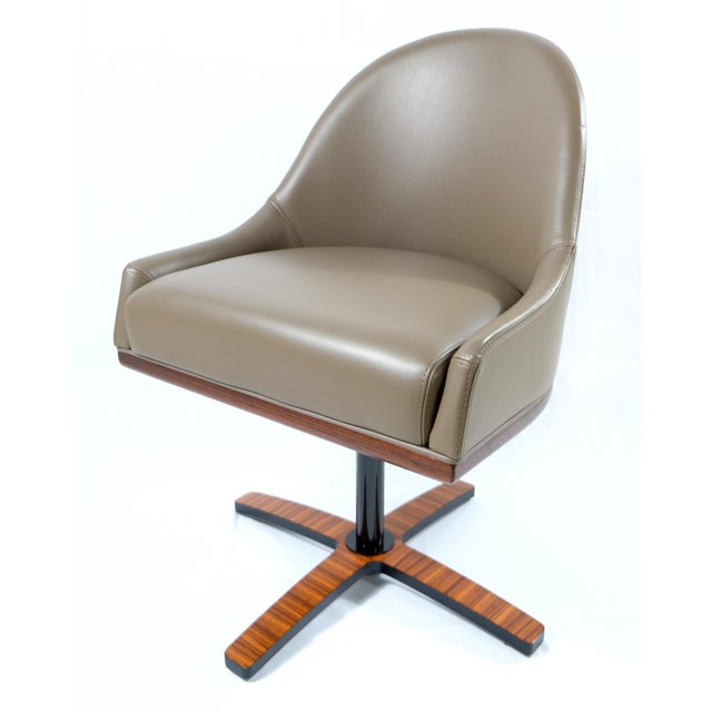 """Medea Mobilidea """"Chic"""" Swivel Chairs Designed by Umberto Asnago- a Pair For Sale - Image 4 of 12"""