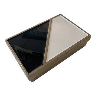 Enamel Brass Decorative Box For Sale
