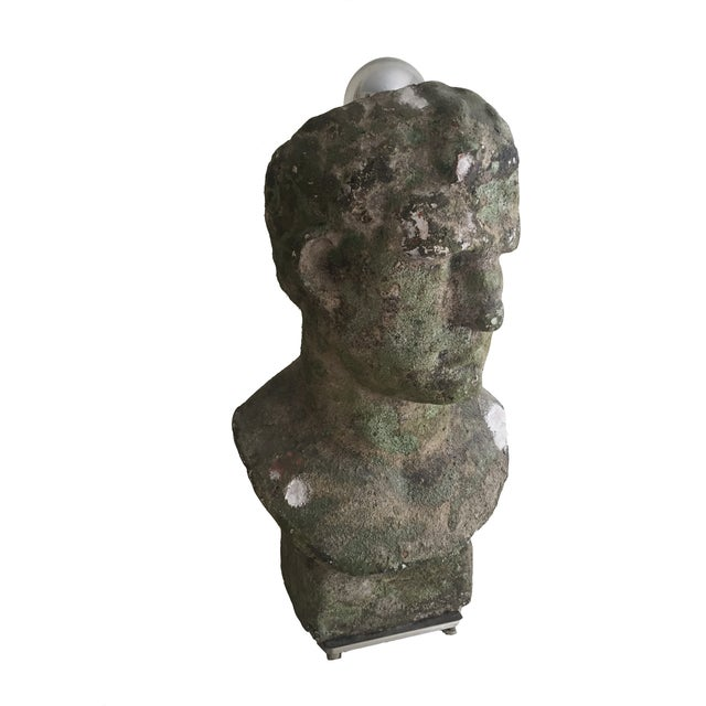 Distressed Stoneware Bust Lamps - Pair - Image 2 of 4