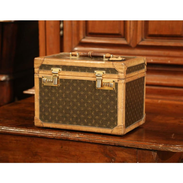 Stow your toiletry and other treasures inside this elegant, antique traveling box. Crafted in France, circa 1880, this...