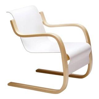 Alvar Aalto & Artek White Armchair For Sale