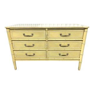 1970s Vintage Henry Link Faux Bamboo Dresser For Sale