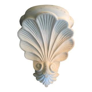 Grosfeld House Style Plaster Hollywood Regency Scallop Shell Wall Shelf Corbel For Sale