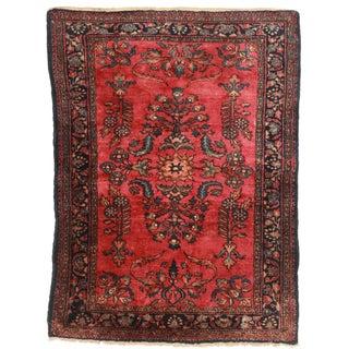 "RugsinDalls Antique Wool Persian Lilihan Rug - 3'6"" X 4'9"" For Sale"