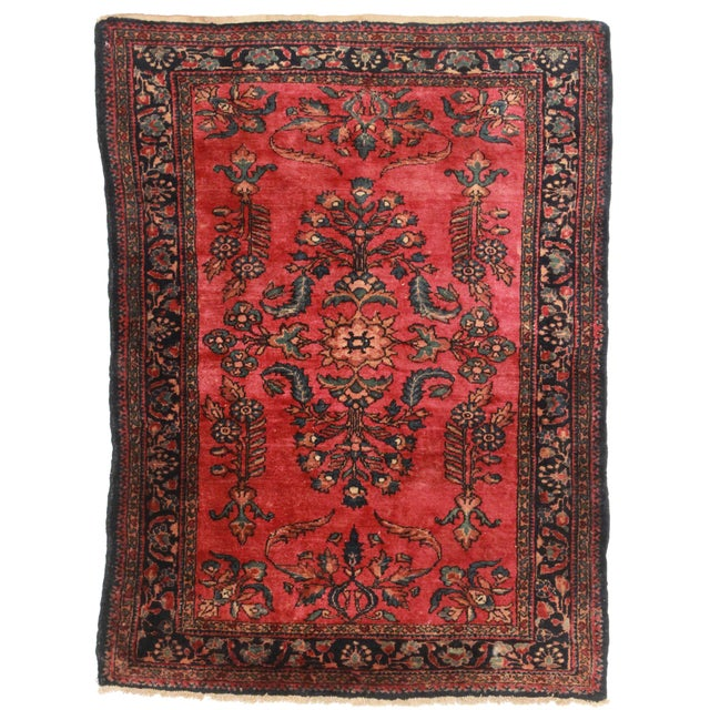 "RugsinDalls Antique Wool Persian Lilihan Rug - 3'6"" X 4'9"" - Image 1 of 2"