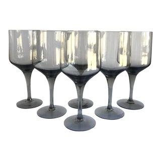 Mid-Century Gray Glasses, Set of 6 For Sale