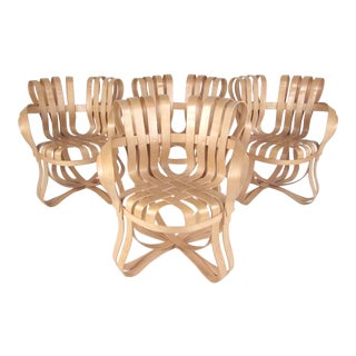 "Frank Gehry for Knoll ""Cross Check"" Chairs - Set of 4 For Sale"