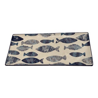 Rectangle Fish Tray by Papart Ceramics For Sale