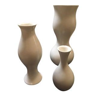 Eva Zeisel White Vases - Set of 3