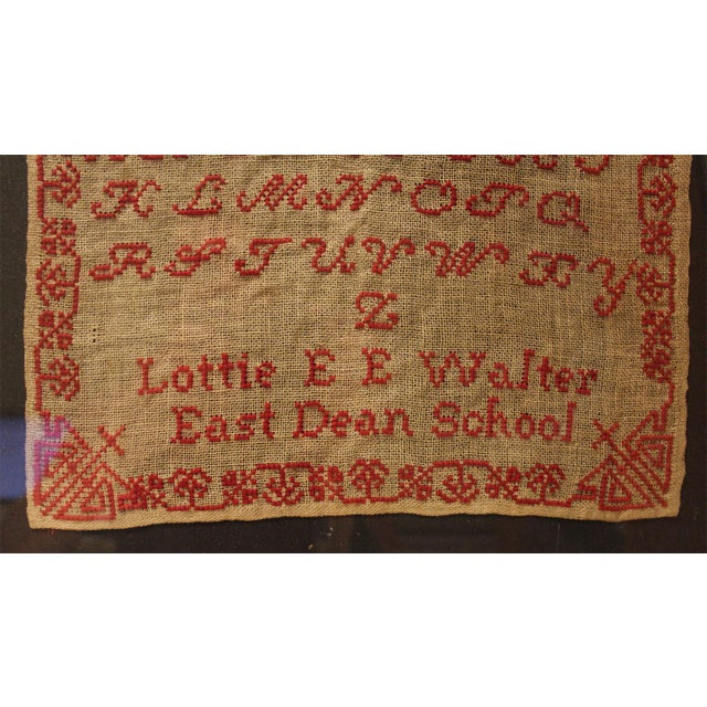 English 19th Century Embroidery Sampler - Image 3 of 5