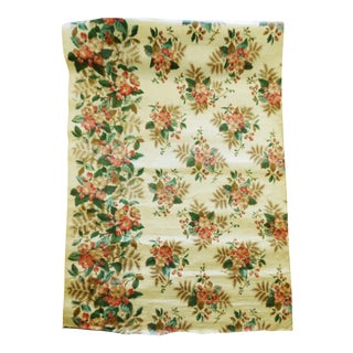 Vintage Chintz Apple Blossom Bouquet Fabric 2-Yd 17- In For Sale