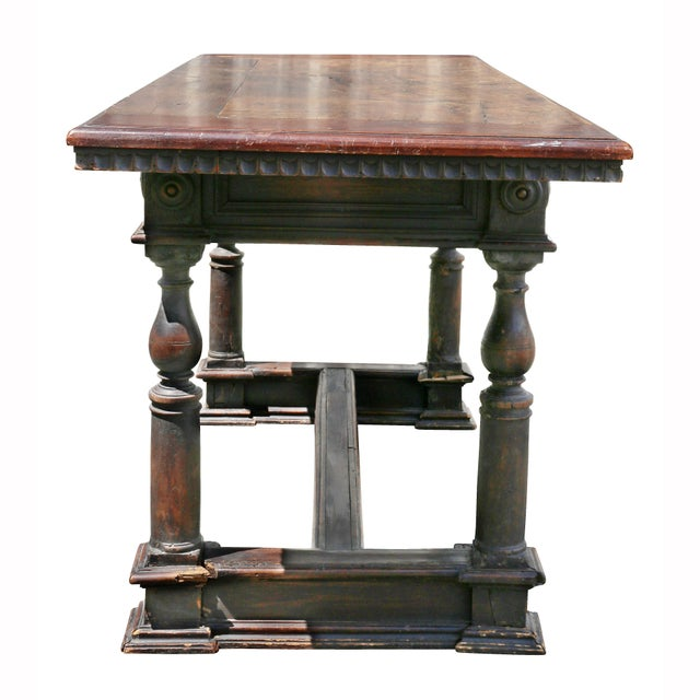 Italian Baroque Walnut Side Table For Sale - Image 9 of 12