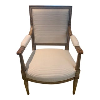 19th Century French Painted Fauteuil Chair For Sale