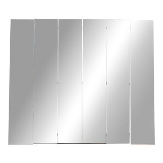 Mid-Century Modern Beveled Mirror Screen