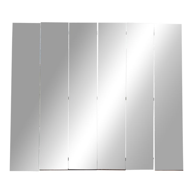 Mid-Century Modern Beveled Mirror Screen - Image 1 of 11