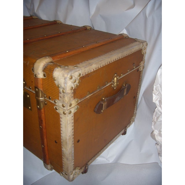 French Wood, Vellum & Leather Trunk - Image 3 of 10