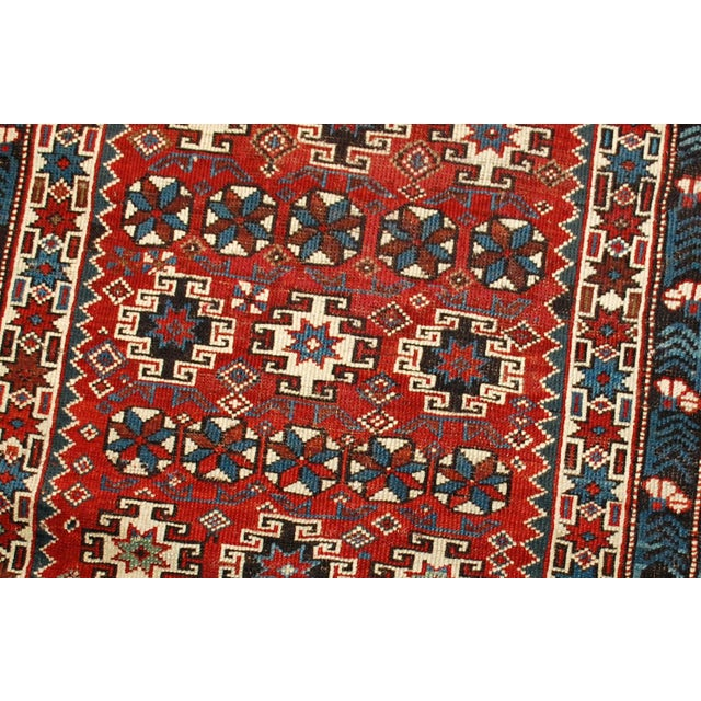 1880s Antique Caucasian Chichi Rug - 4′2″ × 5′6″ - Image 3 of 10