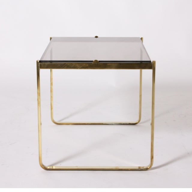 Hollywood Regency Bronze Nesting Tables by Jacques Quinet C. 1960 - Set of 2 For Sale - Image 3 of 6