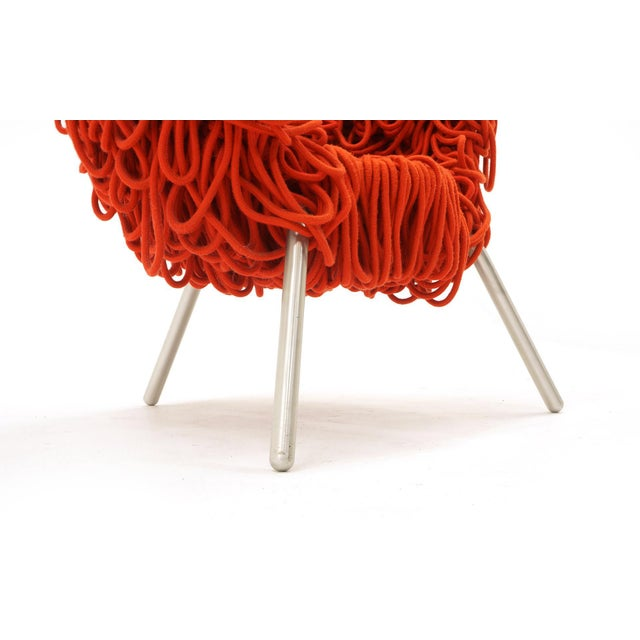 Edra Vermelha Chair by Fernando and Humberto Campana for Edra, Red Rope, Aluminum For Sale - Image 4 of 8