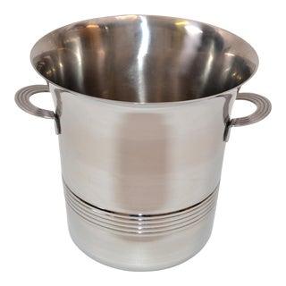 Guy DeGrenne Inox Stainless Steel Modern Champagne Wine Cooler Bucket France For Sale