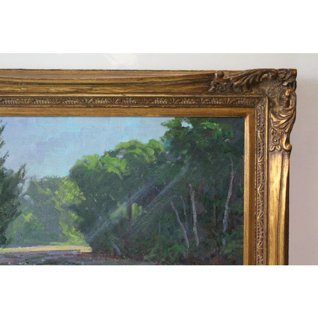 Canvas Caddell Spring Marsh Oil Painting For Sale - Image 7 of 8
