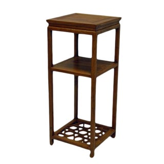 Chinese Tall Icicle Accent Table For Sale