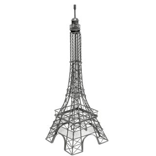 Vintage Large Black Painted Metal Model of the Eiffel Tower For Sale