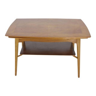 20th Century Scandinavian Modern Blond Wood Expandable Refectory Coffee Table For Sale