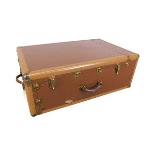 Hartmann Tourobe Vintage 1940's Leather Wardrobe Steamer Trunk Suitcase For Sale