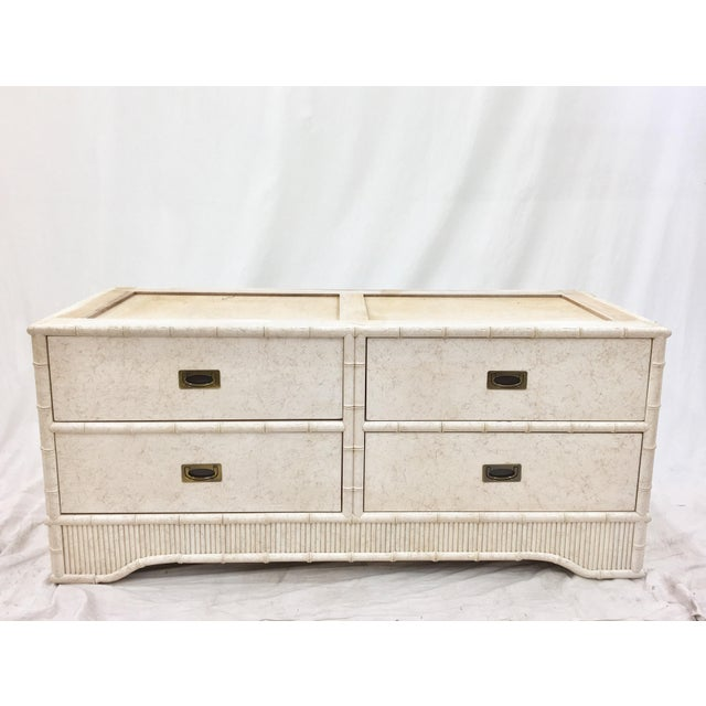 Faux Bamboo Dresser Cabinet by Ficks Reed - Image 7 of 11