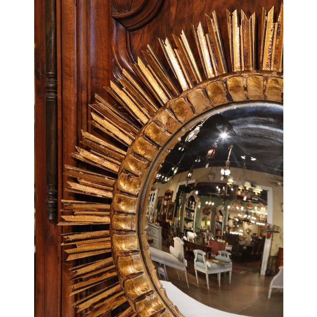 Mid-Century French Sunburst Convex Mirror - Image 5 of 7