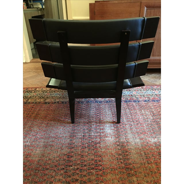 Arteriors Wood & Leather Slatted Chair - Image 5 of 6