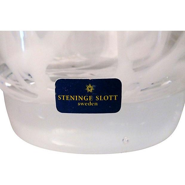 Steninge Slott Sweden Art Glass Vase - Image 4 of 5