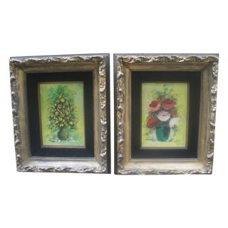 Vintage Floral Still Life Paintings For Sale