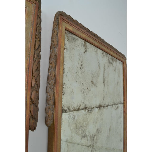 Large Niermann Weeks Neoclassical Mirrors with Antiqued Glass - a Pair - Image 6 of 9