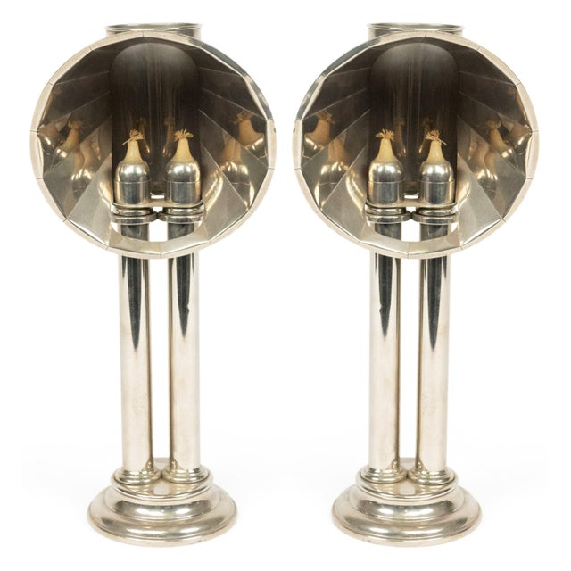 English Victorian Silver Plated Student Lamps, Pair For Sale - Image 9 of 9
